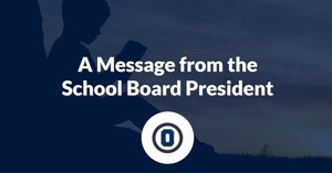 A Message from the School Board President