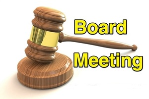 Board Meeting Tuesday December 15, 2020 at 6:30pm
